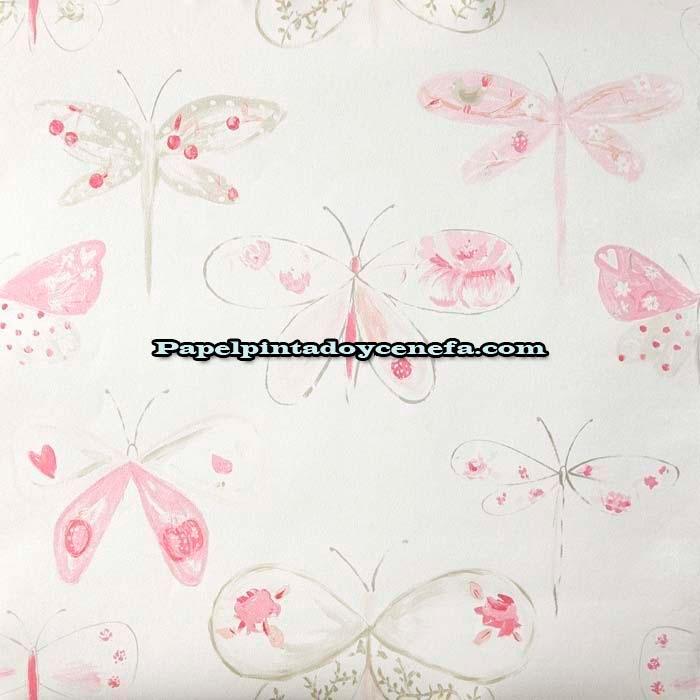 Oh la la papel pintado oh la la ref ola 66184008 - Papel pintado mariposas ...