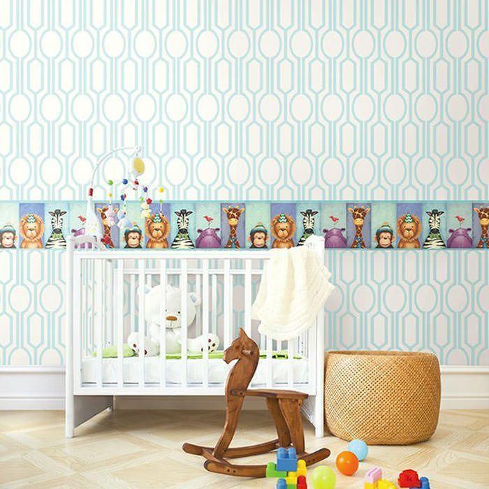 Todas las cenefas cenefa papel pintado pajama party ref for Cenefas papel pintado