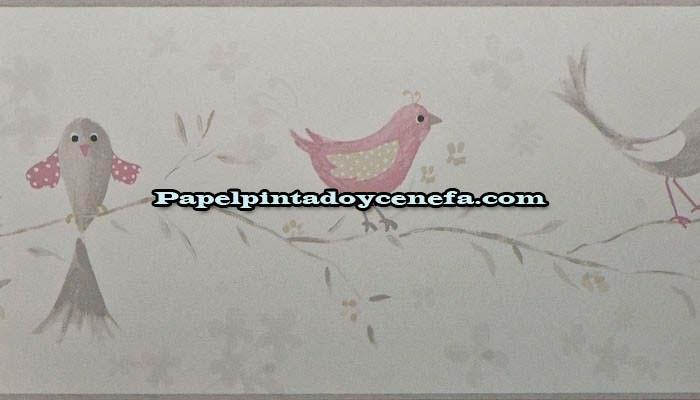 Cenefas infantiles cenefa papel pintado douce nuit ref for Cenefas papel pintado