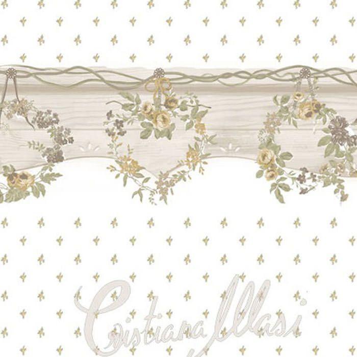 Cenefas dise o cenefa papel pintado fiori country ref c for Cenefas papel pintado