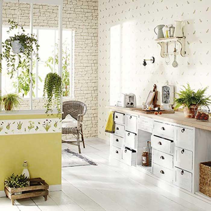 Cenefas cocinas y ba os cenefa papel pintado bon appetit ref c bap 68432015 - Papel pintado y cenefas ...