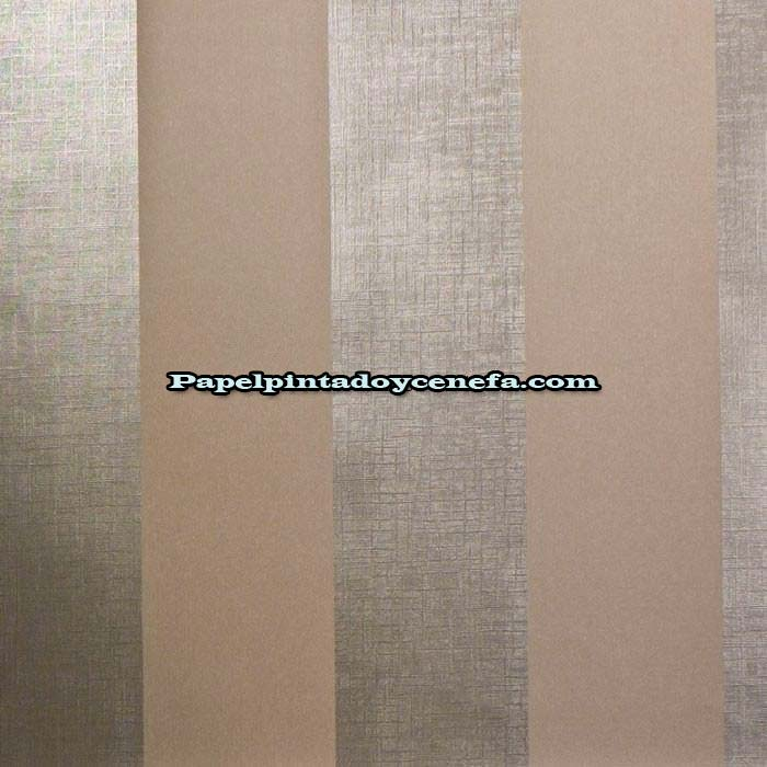 Tres en raya papel pintado tres en raya ref 9107 - Papel pintado plateado ...