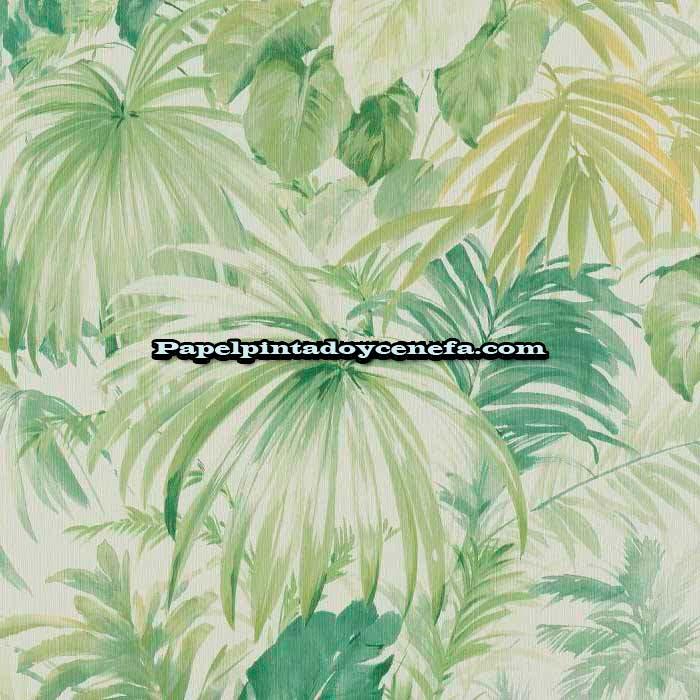 Flow papel pintado flow ref 86203 for Papel pintado hojas verdes