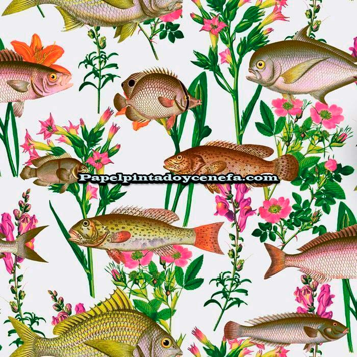 753-1312170-Papel-Pintado-Botanical-Designs-Iberostil-Peces-multicolor