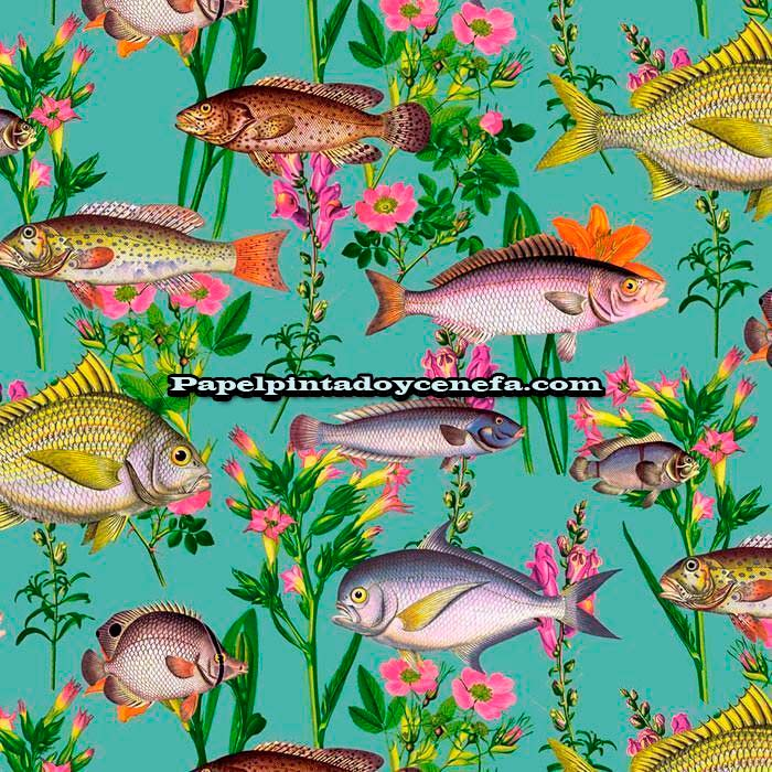 753-1312171-Papel-Pintado-Botanical-Designs-Iberostil-Peces-multicolor
