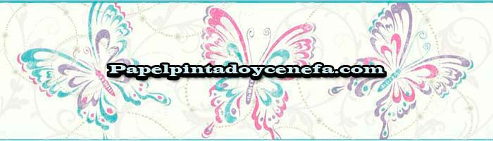 787-C-GK8936B-Cenefa-Papel-Pintado-Growing-Up-Kids-Kemen-Mariposas-fuxia