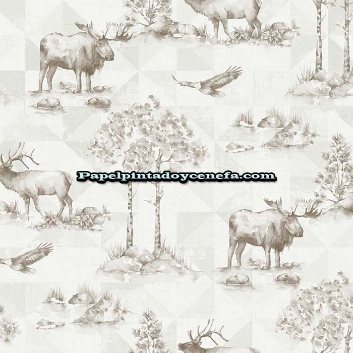 804-TH50108-Papel-Pintado-Destination-Usa-Wallquest-Animales-beige