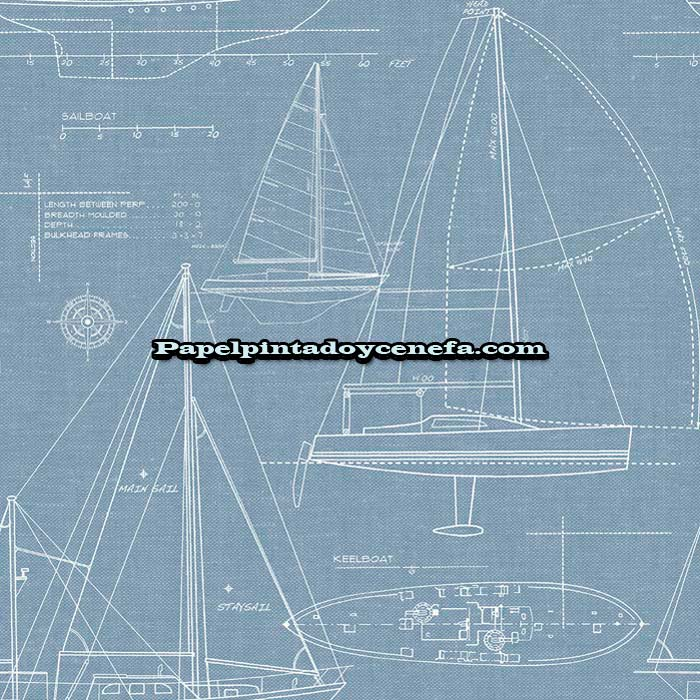 804-TH51402-Papel-Pintado-Destination-Usa-Wallquest-Barcos-blanco