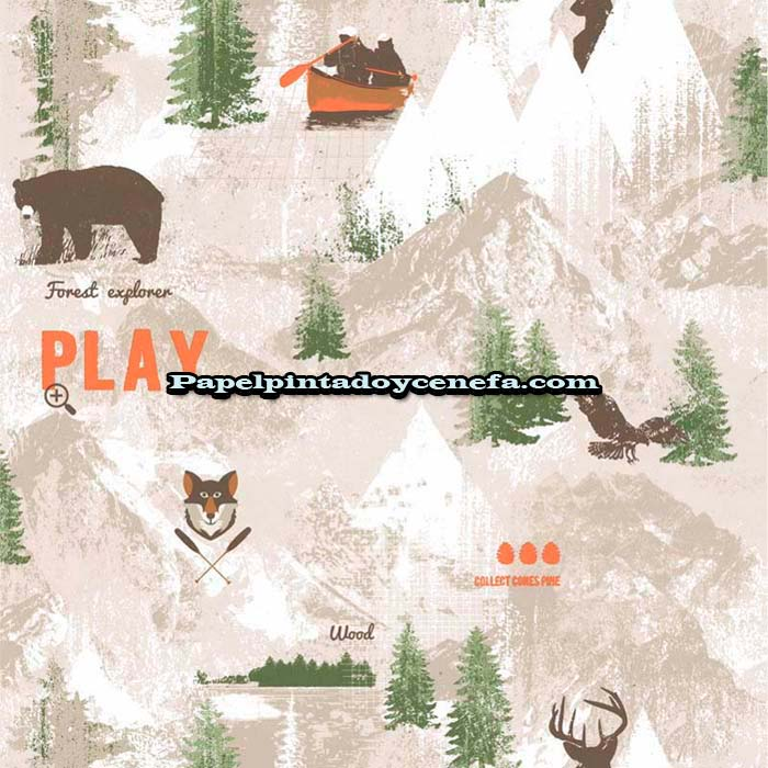 817-247-3611-Papel-Pintado-Funny-Walls-3-Colowall-Animales-beige
