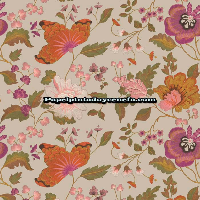 820-22802-Papel-Pintado-Italian-Secret-Sirpi-Flores-multicolor
