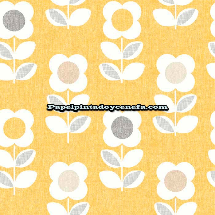 856-902305-Papel-Pintado-Retro-Housee-Arthouse-Flores-amarillo