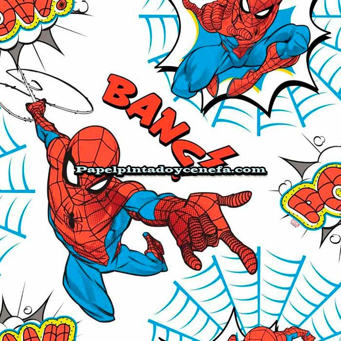 988-236-1505-Papel-Pintado-Individual-Kids@Home-Colowall-Spiderman-rojo
