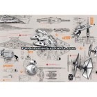 Mural Star Wars Marvel Pixar Disney Ref. M-8-493-STAR-WARS-BLUEPRINTS
