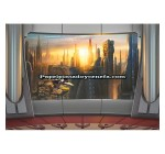 Mural Star Wars Marvel Pixar Disney Ref. M-8-483-STAR-WARS-CORUSCANT-VIEW